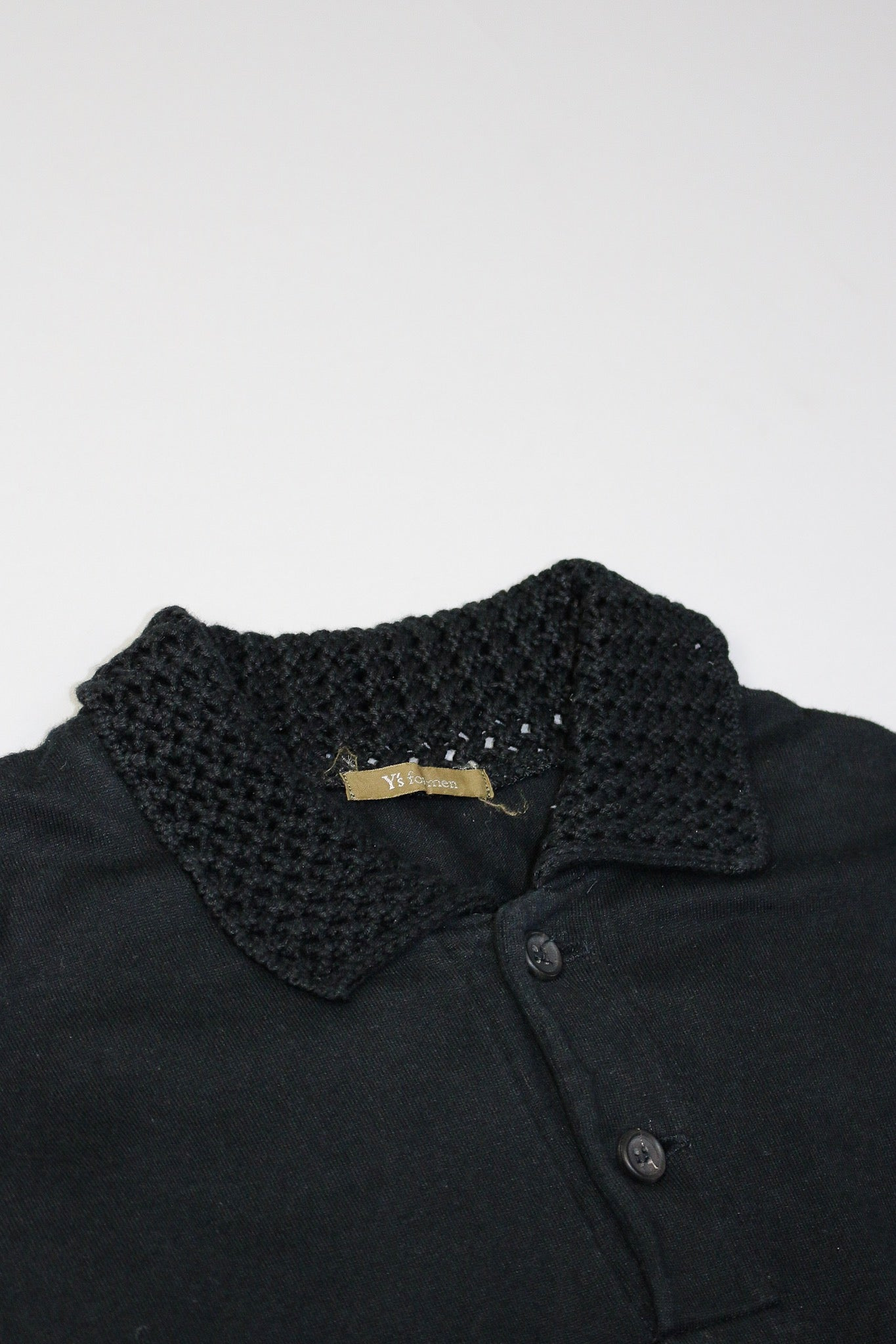 Y's for Men by Yohji Yamamoto Knitted Collar