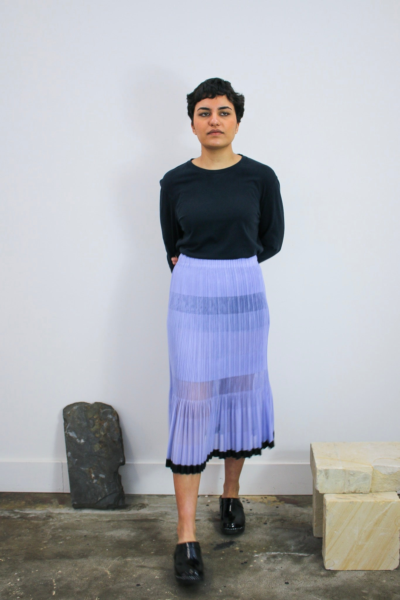 Pleats Please by Issey Miyake Perforated Skirt