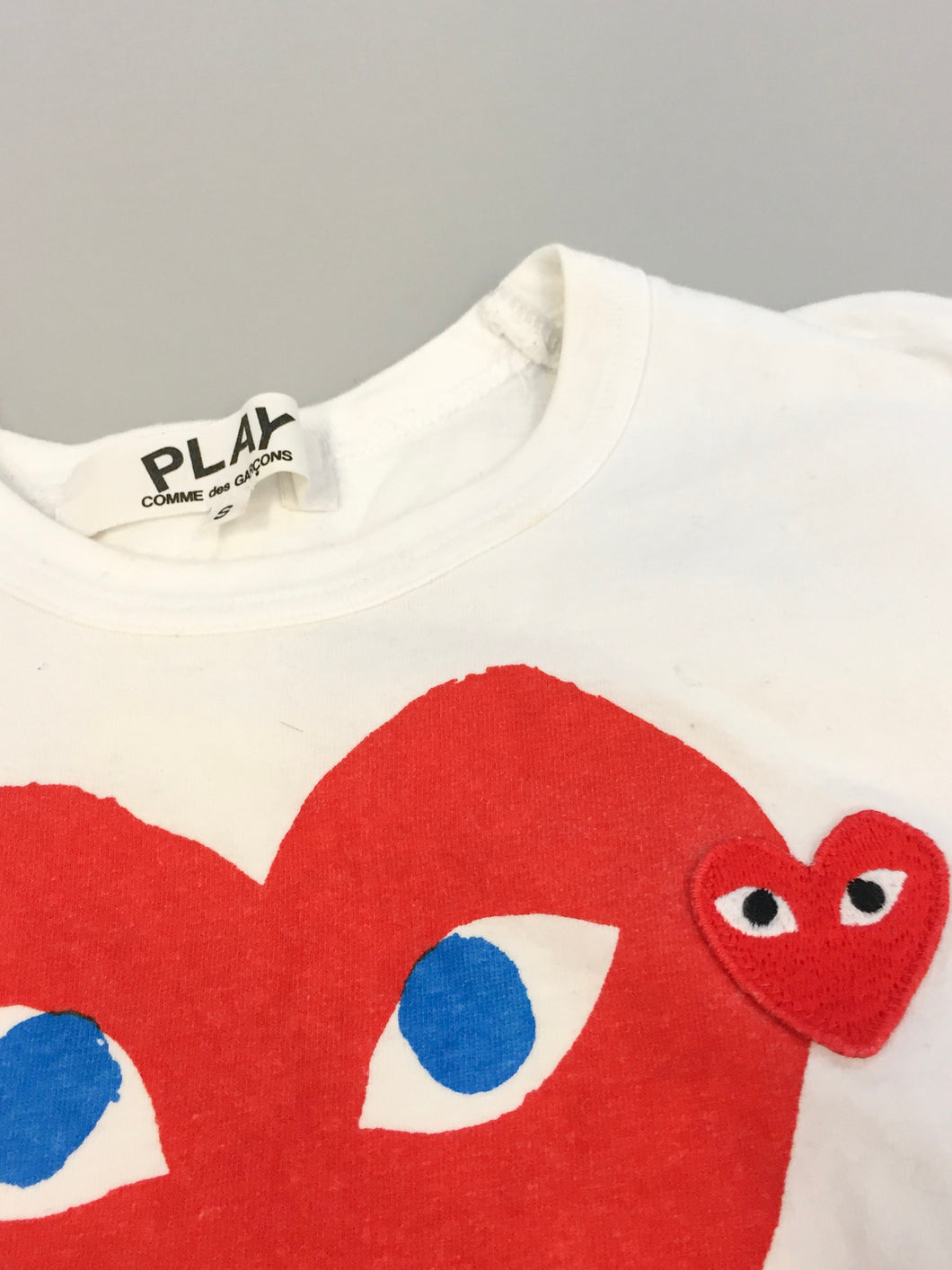 Comme des Garçons Play Two Hearts Tee