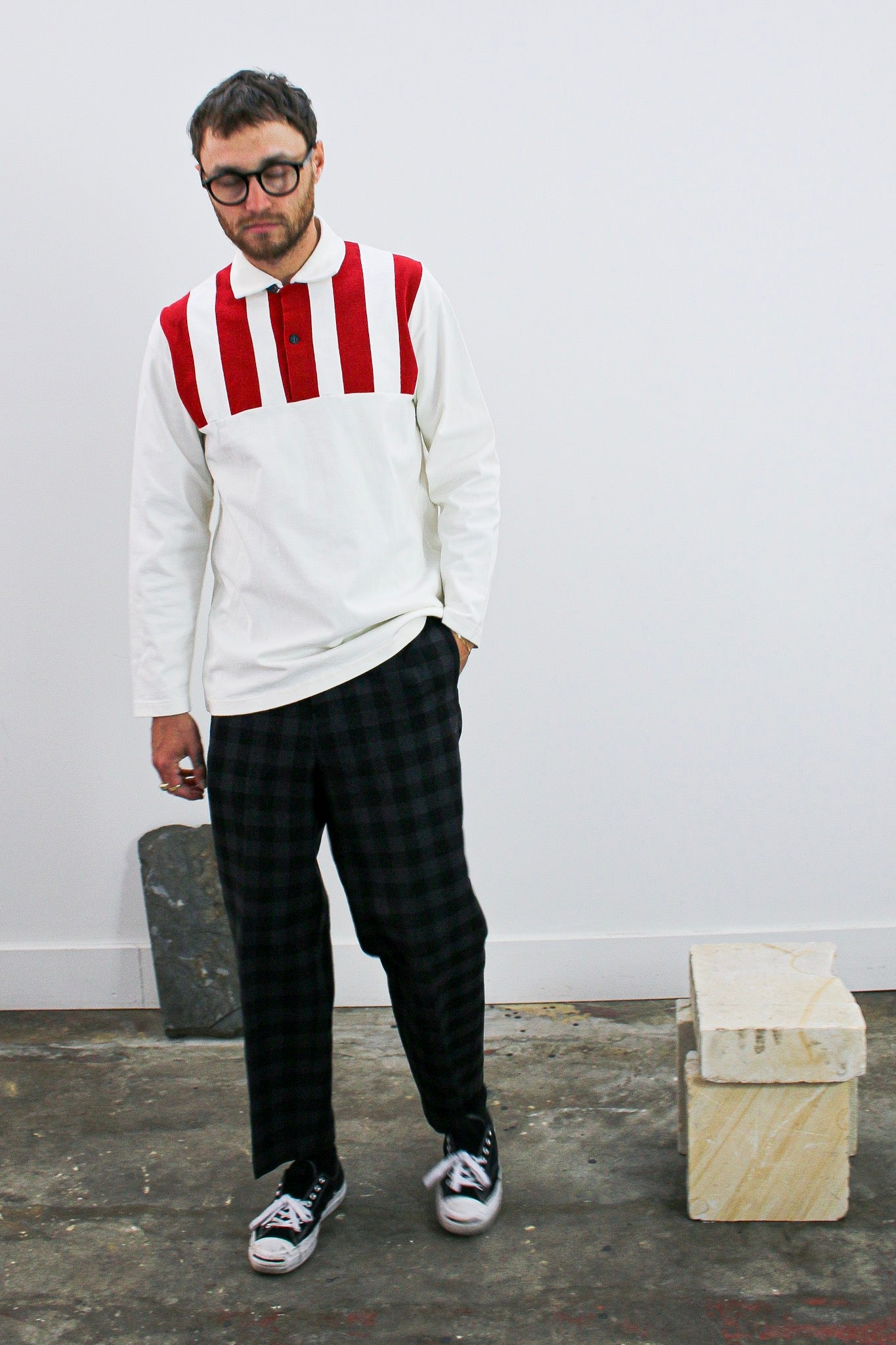 Y's for Men by Yohji Yamamoto Red Panel Polo