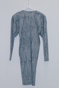 Pleats Please by Issey Miyake Long Pleated Cardigan