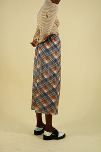 Pleats Please by Issey Miyake Checkered Skirt Full Length