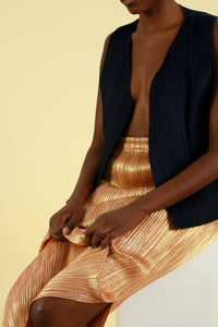 Pleats Please by Issey Miyake Gold Dotted Skirt