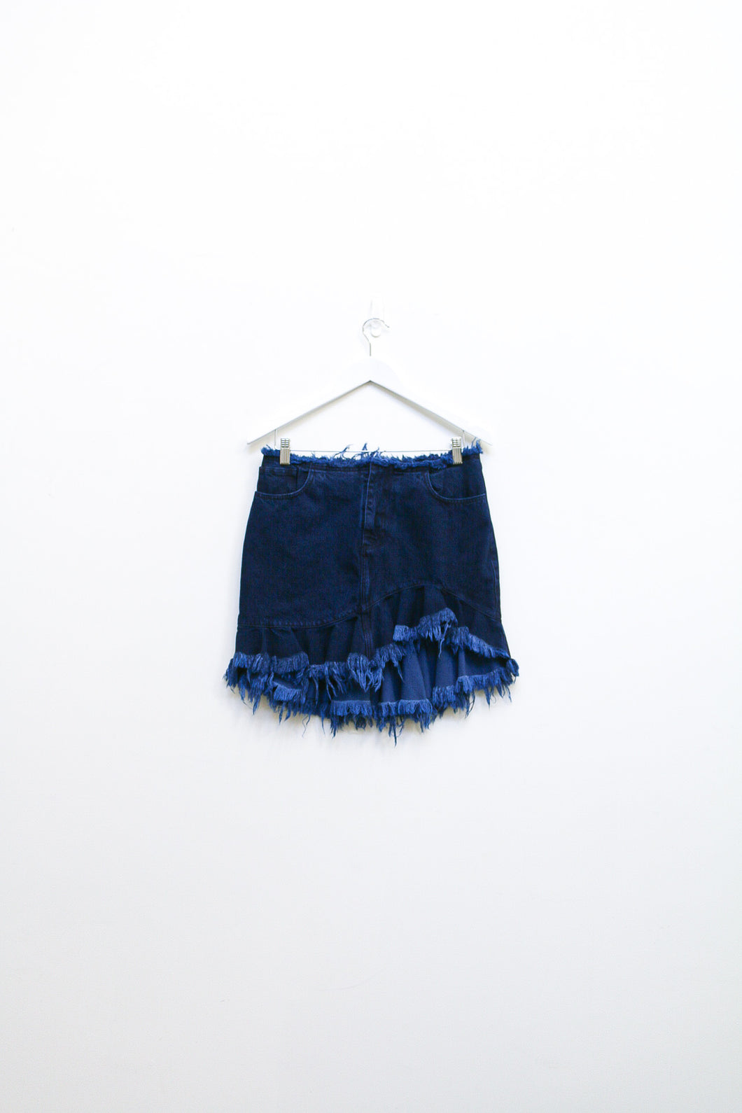 Marques' Almeida Denim Ruffled Mini