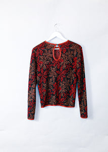 Vintage 1980's Missoni Patterned LongSleeve