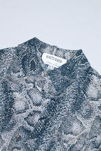 Load image into Gallery viewer, Vintage Snakeskin Sheer Button Up Shirt