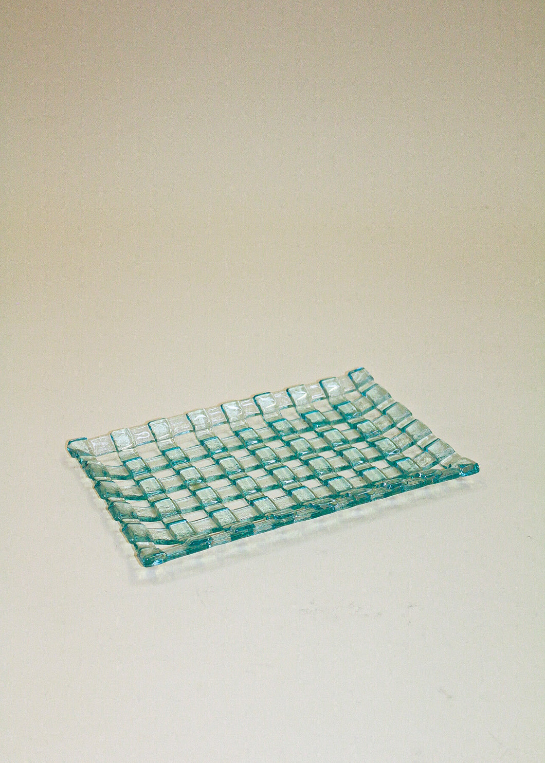 Checked Glass Plate