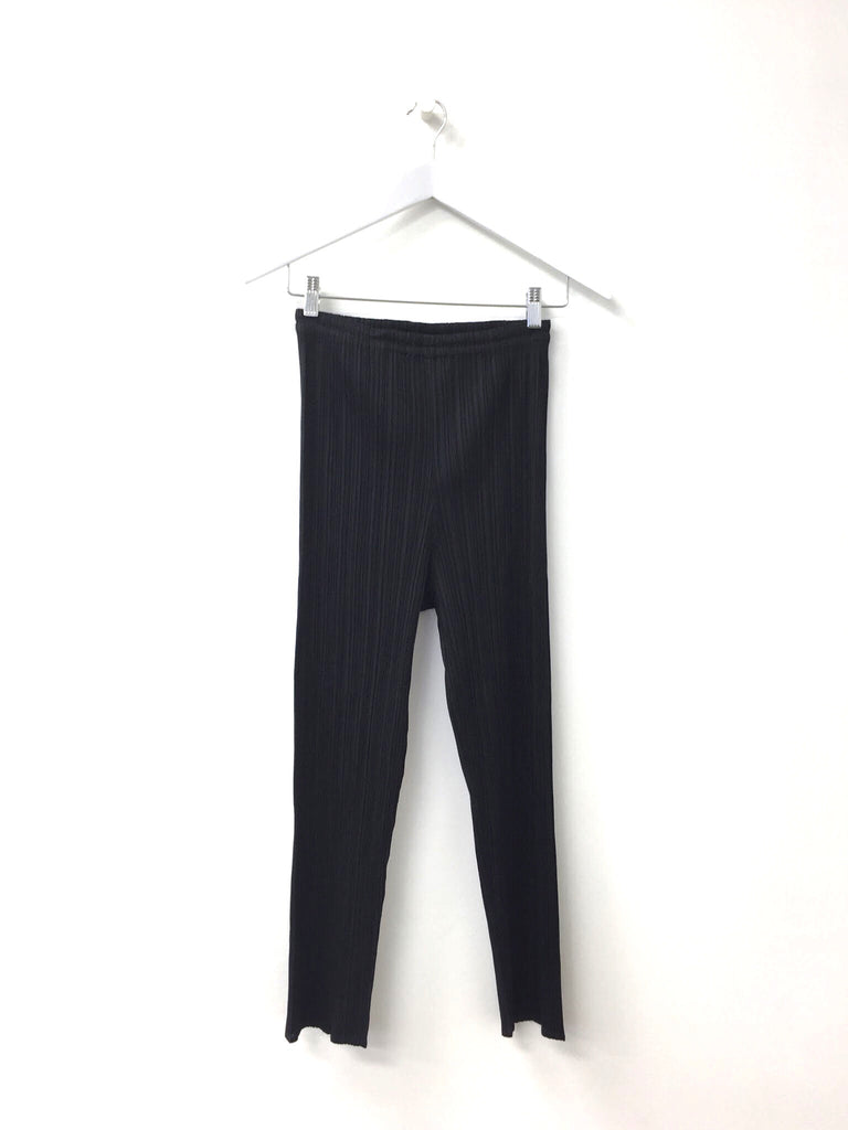Pleats Please Black Slimline Trouser Black