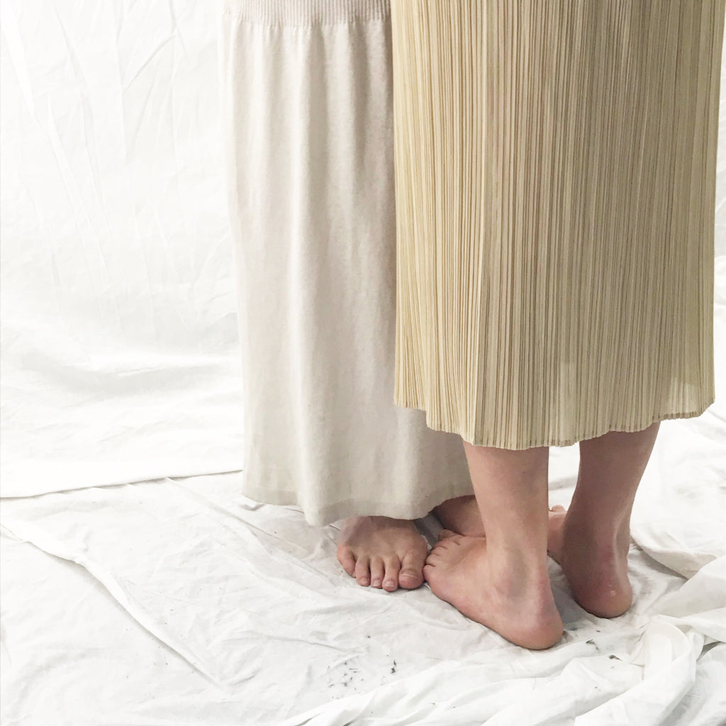 Pleats Please by Issey Miyake Beige Skirt