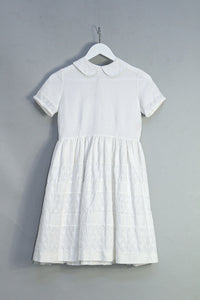 Vintage Shirtwaist Dress with PeterPan Collar