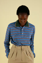Load image into Gallery viewer, Prada Striped Polo Long SLeeve