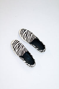 Céline Pony Hair Patterned slides