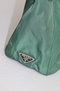 Prada Green Tessuto Large with Plastic Handle