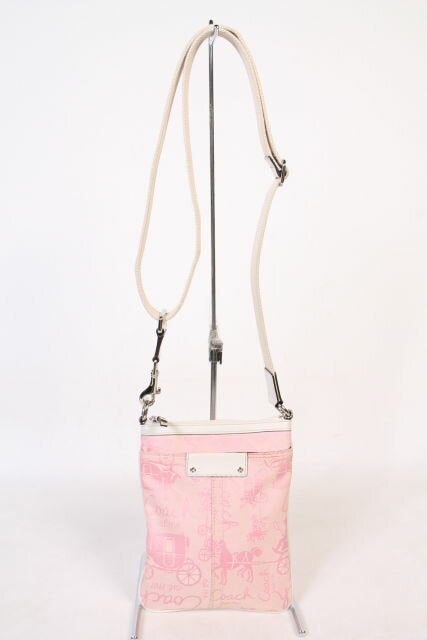 COACH Pink Horse & Carriage Satchel