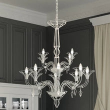 Load image into Gallery viewer, Dedalo 12-Arm Chandelier