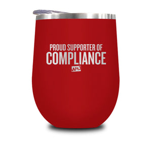 Proud Supporter Of Compliance Stemless Wine Cup