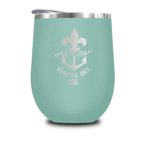 Cajun Navy Stemless Wine Cup