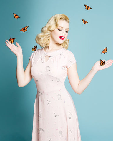 Juliet Blush Butterfly Dress