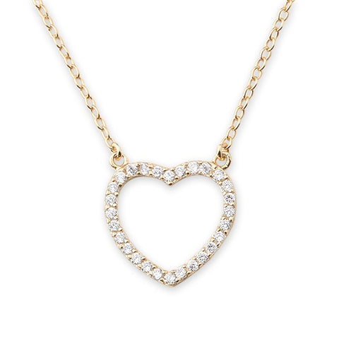 CZ HEART GOLD NECKLACE