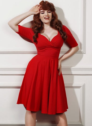 Trixie Doll Dress-Red