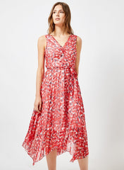 Rosy Pleated  Dress