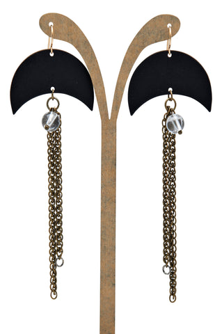 Black Cresent Earring