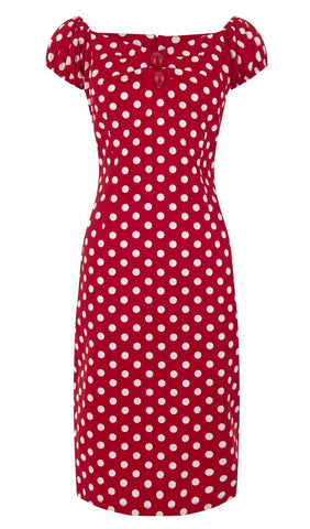 Dolores Dress Red Polka