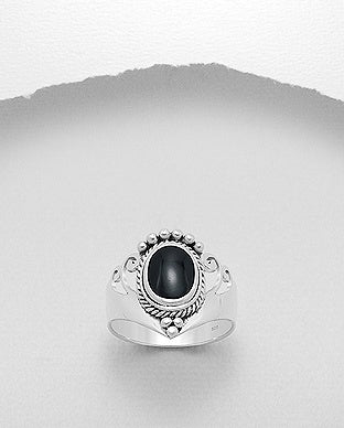 Onyx Silver Ring GS02