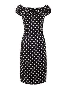 Dolores Dress Blue Polka