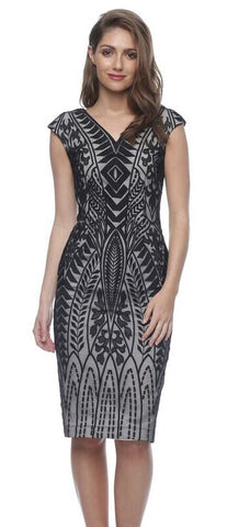 Galleria Black Fitted Dress