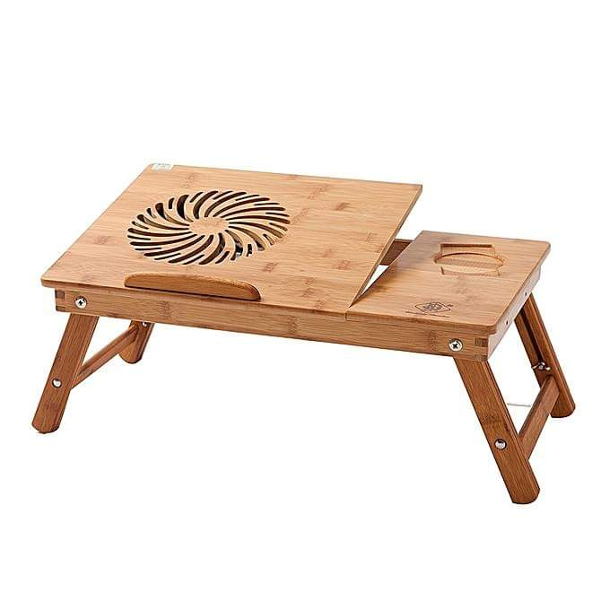 TABLE PC POUR LIT BAMBOO PROMOTION   طاولة كمبيوتر محمول للسرير خشب بامبو