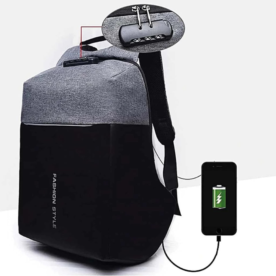 Anti-Theft Backpack with Security Code 001