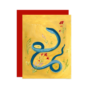 Snake and Wildflowers Card