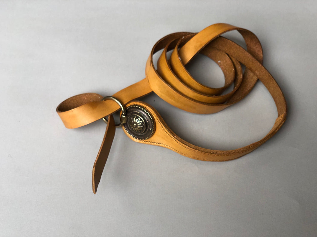 'Vaucluse' Leather Wrap Ring Belt