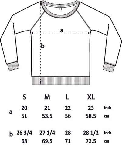 Control Climbing Clothing- Ladies Climbing Sweat Size Guide