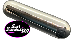 The Best Sensation Silver Bullet Vibrator (w/ Black, Purple or Hot Pink Button)