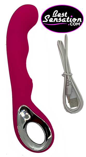 The Chrome Loop Pleasure Curve Vibrator
