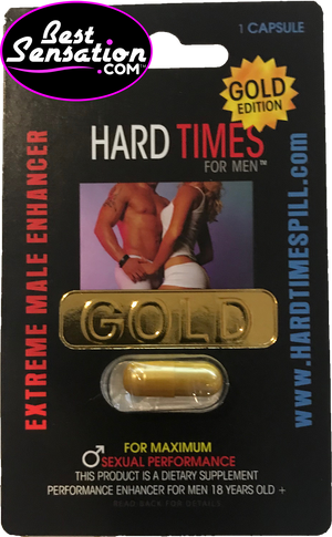 Hard Times GOLD Edition Sex Enhancer for Men - 24 Single Packs