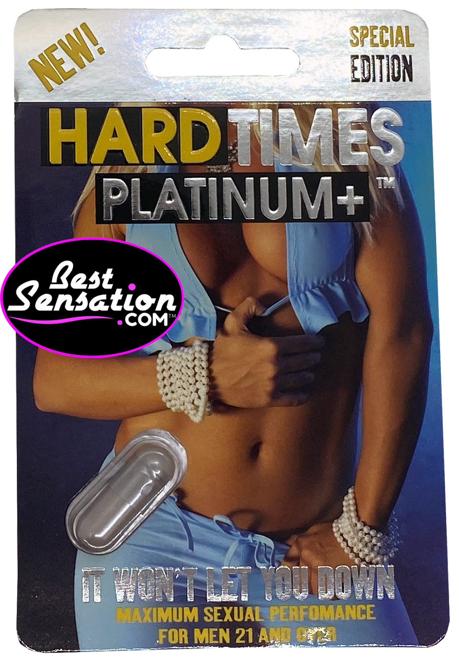 Hard Times PLATINUM+ SPECIAL EDITION Sex Enhancer for Men - 24 Single Packs