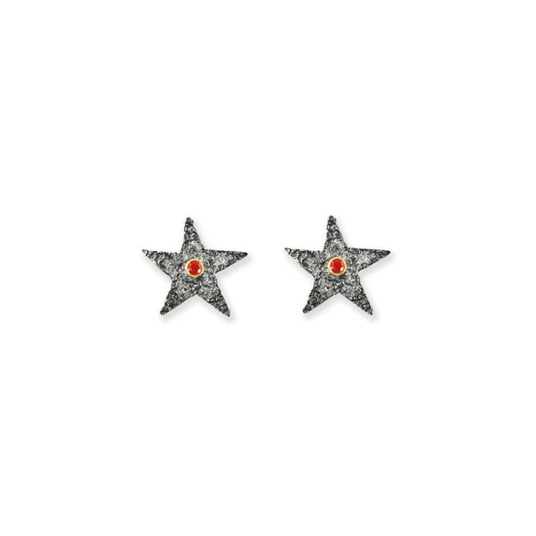 Silver Stars With Ruby - ArtLofter