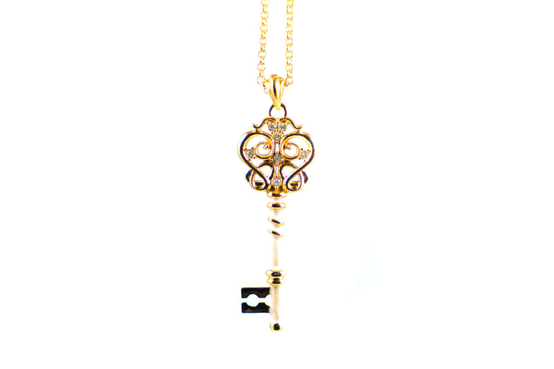 Small Gold Key 'Bright Love' - ArtLofter