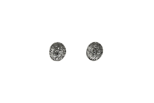 Oxidized Silver Earrings With Diamond Dust - ArtLofter