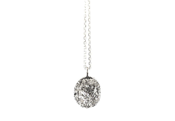 Silver Necklace With Diamond Dust - ArtLofter