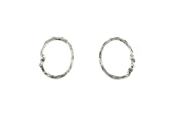 Silver Earrings With Diamond Dust - ArtLofter
