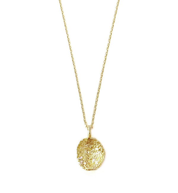 Gold Plated Necklace With Diamond Dust - ArtLofter