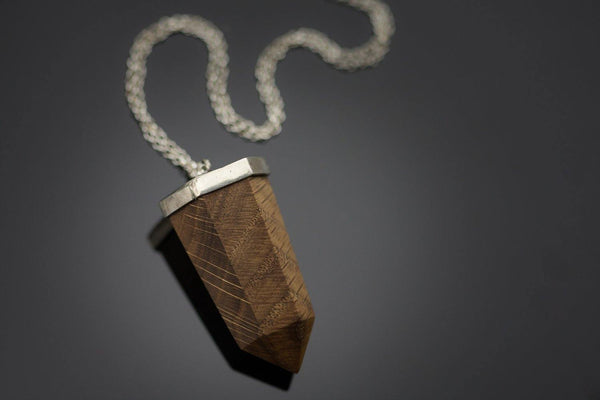 Pendant With Oak And Silver - ArtLofter