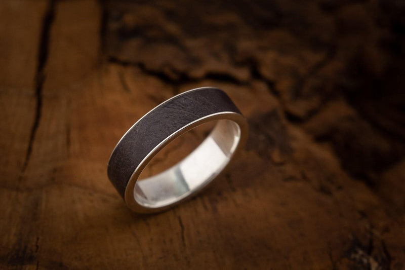 Silver Ring With Wood - ArtLofter