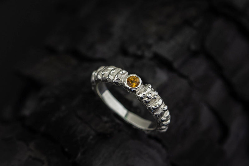 Silver Ring With Citrine - ArtLofter