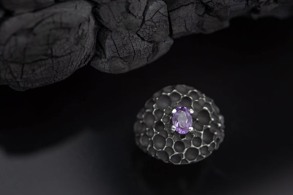 Silver Ring With Amethyst - ArtLofter