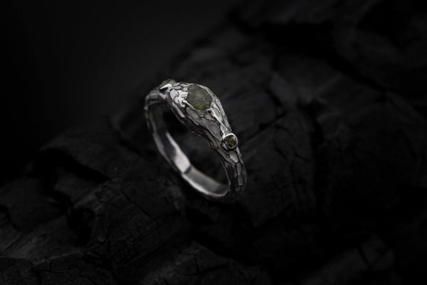 Silver Ring With Diamond - ArtLofter